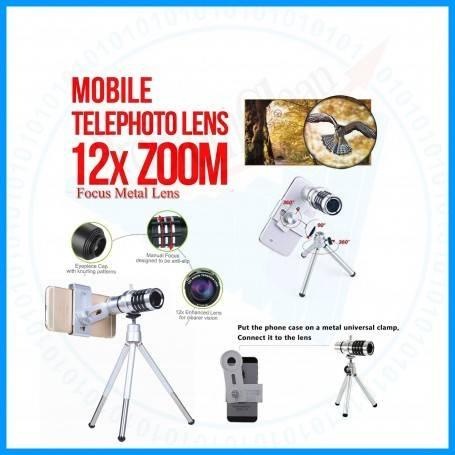 12X Focus Metal Lens