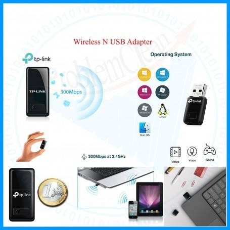 Wireless N USB Adapter(300Mbps)