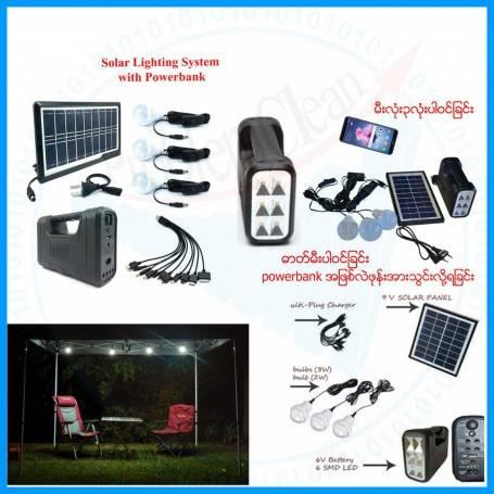 Solar Lighting System With Powerbank