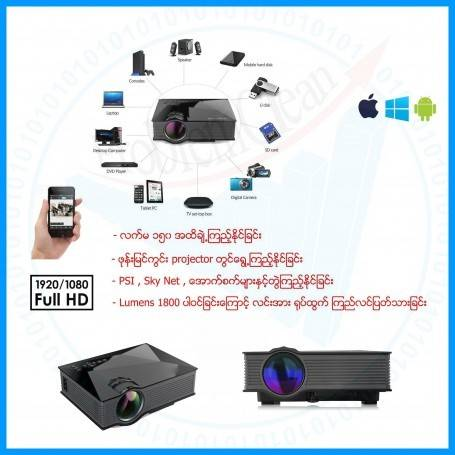Wirless LED Projector (150 inches)